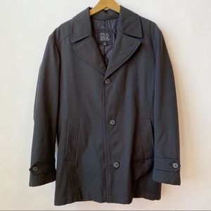 Jos. A. Bank Executive Collection Black Raincoat